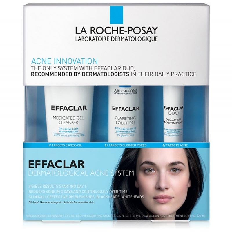 ihocon: La Roche-Posay Effaclar Dermatological Acne Treatment System for Face Oil Free  理膚寶水三步驟青春痘治療套裝