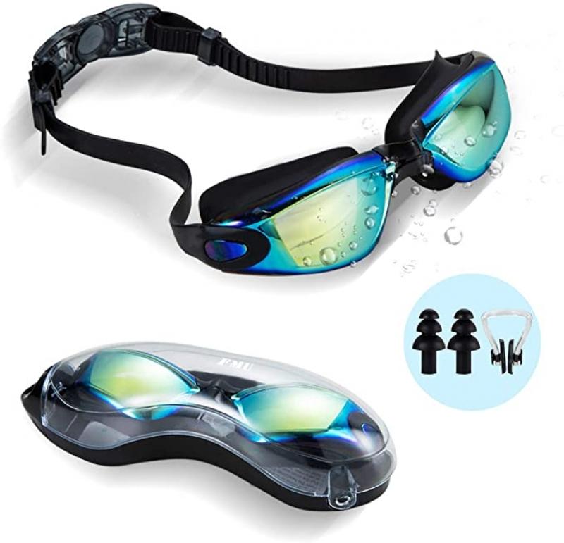 ihocon: Gaslen No Leaking Anti Fog UV Protection Triathlon Swim Goggles with Nose Clips  游泳蛙鏡