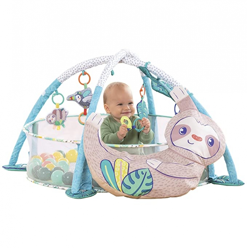 ihocon: Infantino 4-in-1 Jumbo Baby Activity Gym & Ball Pit 嬰兒遊戲架/球池
