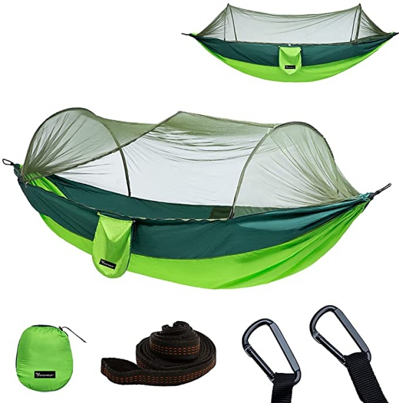 ihocon: Yoomo Camping Portable Lightweight Parachute Nylon Hammock with Mosquito Net 蚊帳吊床