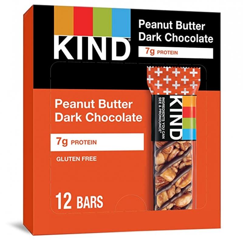 ihocon: KIND Bars, Peanut Butter Dark Chocolate, Gluten Free,1.4 Ounce,12 Count