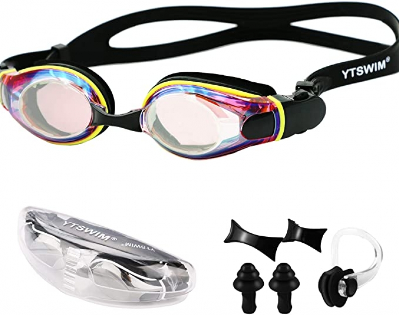 ihocon: YTSWIM Unisex-Adult Swim Goggles, Anti-Fog UV Protection 成人游泳蛙鏡
