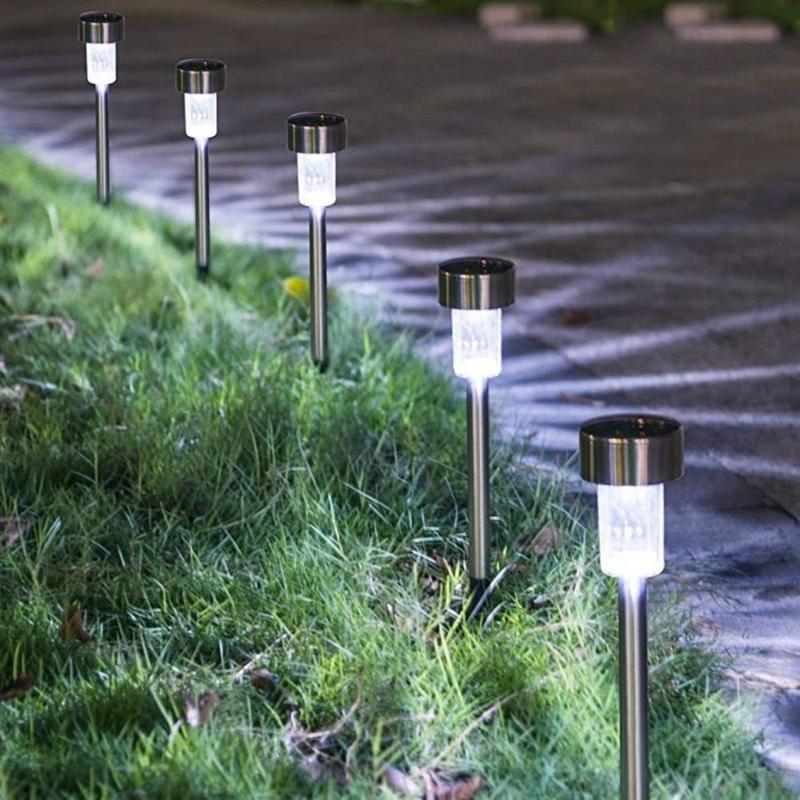 ihocon: 24-Pack Stainless Steel Solar Powered Pathway Garden Light 不銹鋼太陽能庭園燈