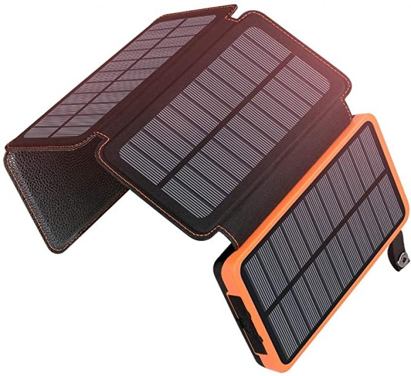 ihocon: ADDTOP Solar Charger 25000mAh Huge Capacity Solar Power Bank 太陽能行動電源/充電寶