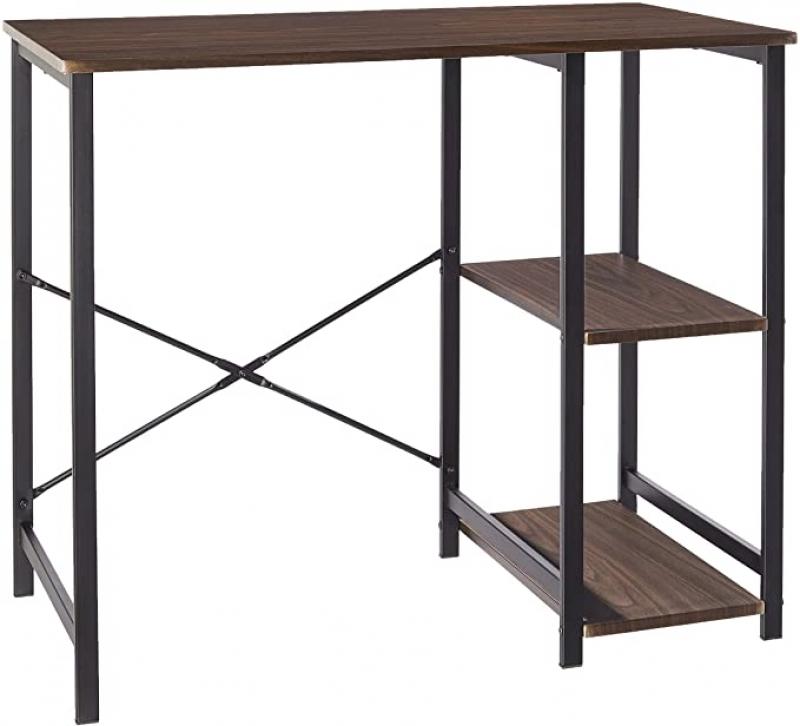 ihocon: Amazon Basics Classic, Home Office Computer Desk With Shelves 電腦桌