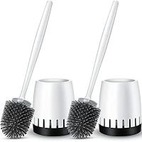 ihocon: Homemaxs Toilet Bowl Brush and Holder 2 Pack 馬桶刷和收納盒2組