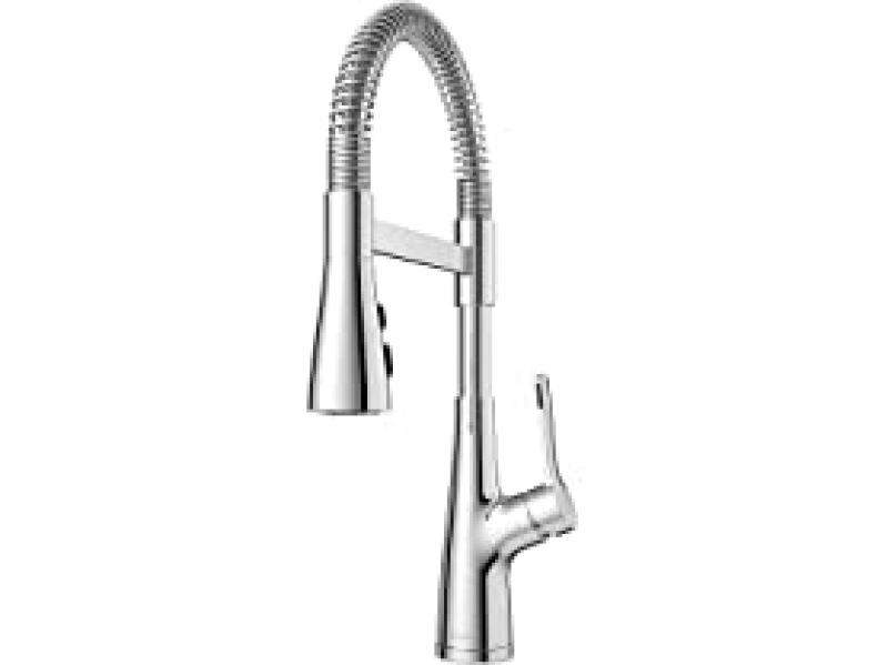 ihocon: Pfister Neera Commercial Style Pull Down Kitchen Faucet with Spring Spout, Polished Chrome (LG529-NECC) 下拉式廚房水龍頭