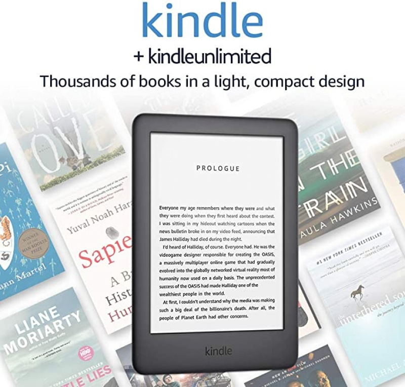 ihocon: Kindle Reader 8GB Tablet + 3 Months Free Kindle Unlimited (with auto-renewal)