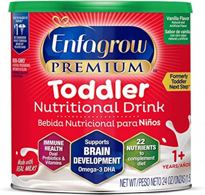 ihocon: Enfagrow PREMIUM Toddler Nutritional Drink, Vanilla Flavor, Omega-3 DHA for Brain Support, Prebiotics & Vitamins for Immune Health, Non-GMO, Powder Can, 24 oz  幼兒營養補充沖泡式飲料