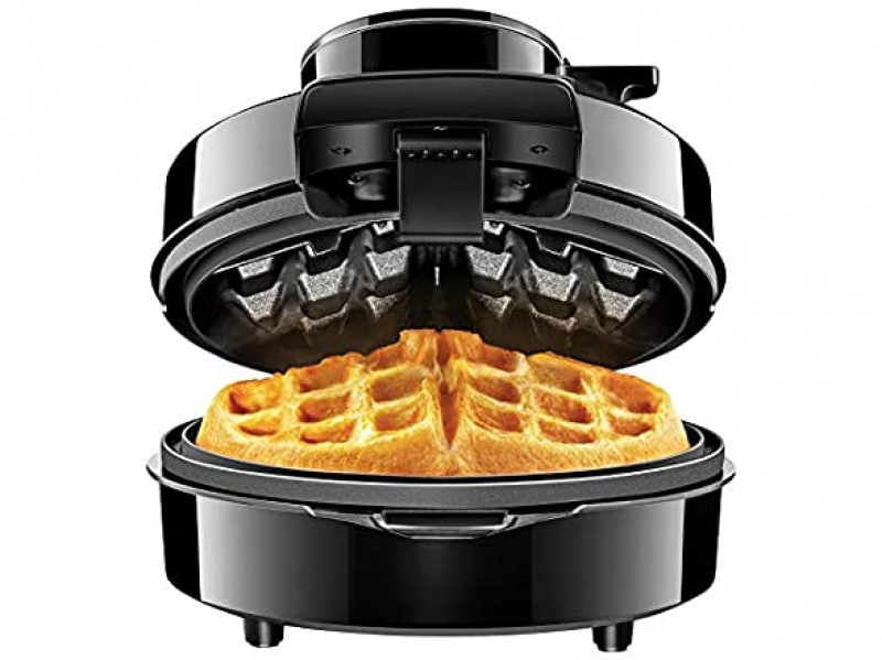 ihocon: Chefman Perfect Pour Volcano Belgian Waffle Maker w/No Overflow Design Round Iron 火山型比利時鬆餅機