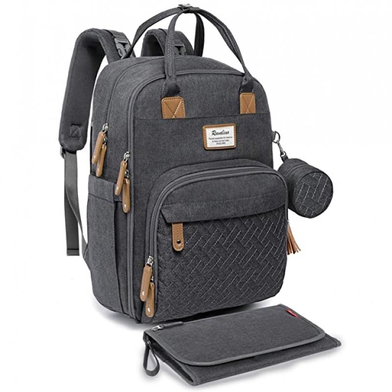 ihocon: RUVALINO Neutral All-in-One Baby Bags 媽媽包/嬰兒用品背包灰色