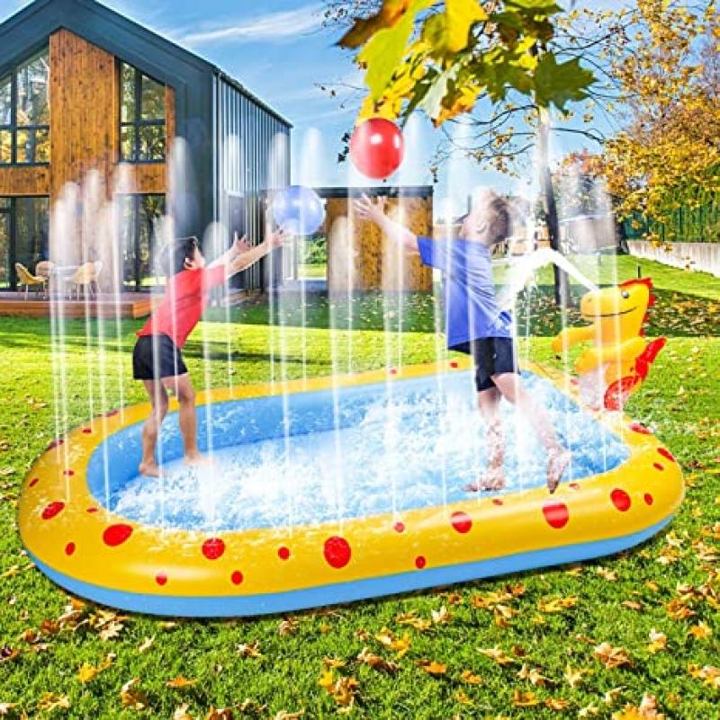 ihocon: Ankuka Inflatable Sprinkler Pool Swimming Kiddie Pool (67 X 41吋)  充氣噴水玩水池