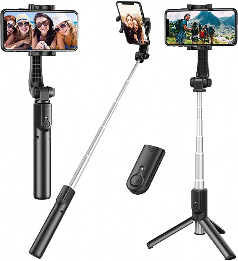 ihocon: Erligpowht Selfie Stick 腳架式自拍杆, 附拍照遙控器