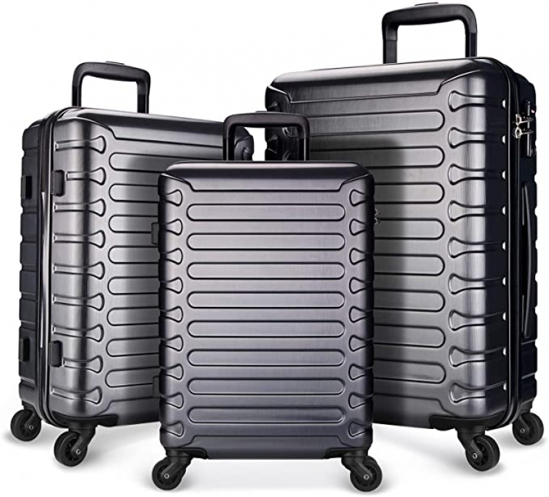 ihocon: SHOWKOO Luggage Expandable Spinner Wheels with TSA Lock, 3-Piece Set(20/24/28) 硬殼行李箱