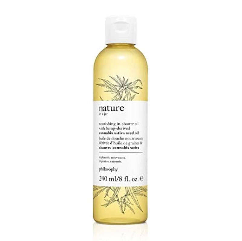 ihocon: philosophy nature in a jar - nourishing in-shower oil with hemp-derived cannabis sativa seed oil, 8 oz 大麻籽油滋養沐浴油