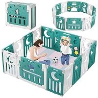 ihocon: Dripex Upgrade Foldable Kids 14 Panel Activity Centre Safety 14片嬰兒圍欄