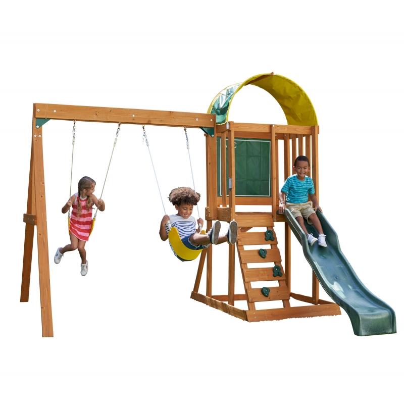 ihocon: KidKraft Ainsley Wooden Swing Set / Playset木製鞦韆滑梯