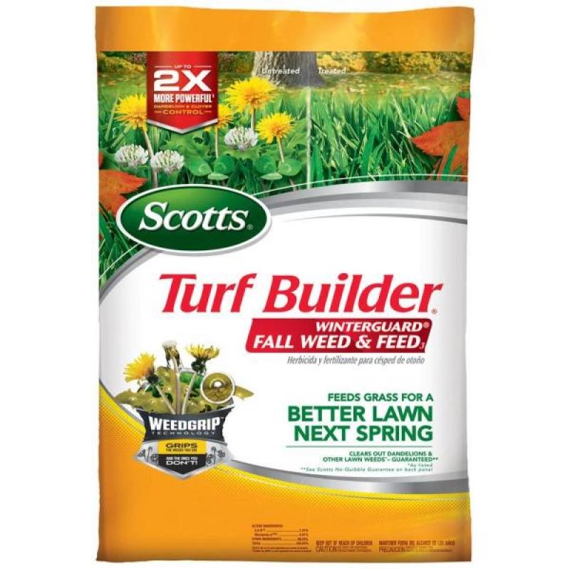 ihocon: Turf Builder Winterguard 43 lbs. 15,000 sq. ft. Fall Lawn Fertilizer Plus Weed Control 秋季草地肥料 (雜草控制配方)