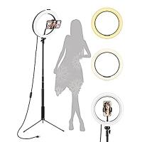 ihocon: ZAZZIO 10.2 Selfie Ring Light with Tripod Stand 自拍環形燈, 含手機固定