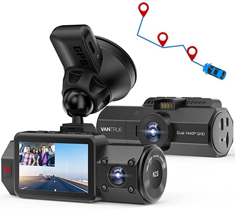 ihocon: Vantrue N2S 4K 1440P Front and Inside Dash Camera with GPS 雙鏡頭行車記錄儀