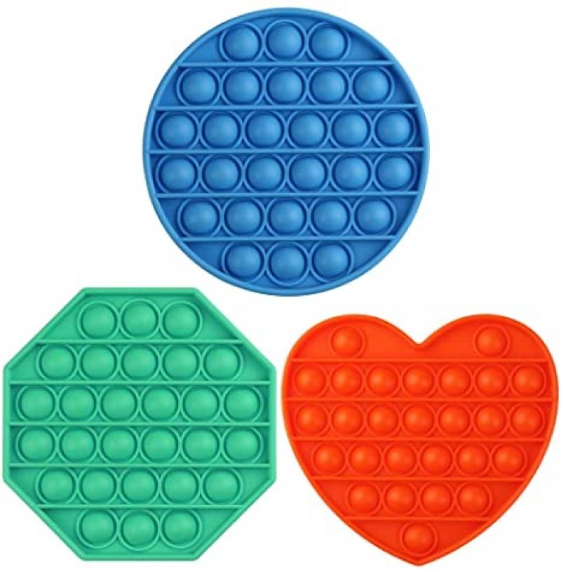 ihocon: REMASIKO Push Pop Bubble Fidget Toy 3PCS 矽膠減壓玩具