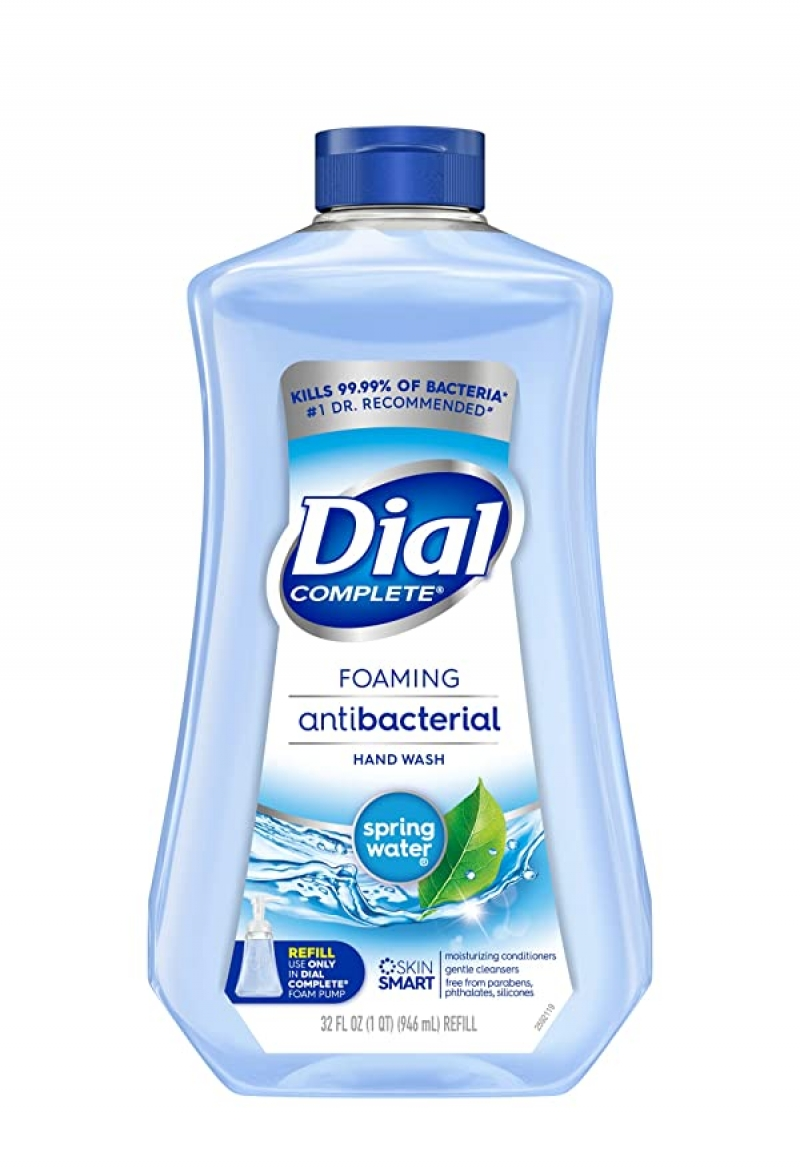 ihocon: Dial Complete Antibacterial Foaming Hand Soap Refill, Spring Water, 32 Fluid Ounces  抗菌泡沫洗手液皂 補充裝