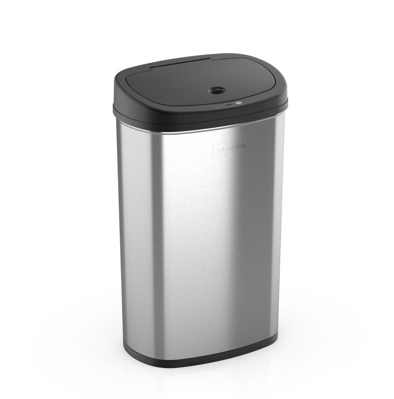 ihocon: Mainstays, 13.2 gal /50 L Motion Sensor Kitchen Garbage Can 動作感應自動開關廚房不銹鋼垃圾桶