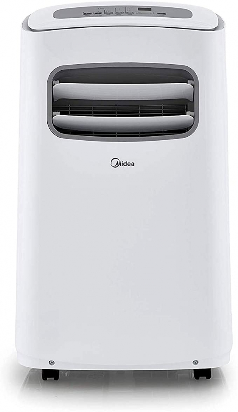 ihocon: Midea MAP10S1CWT 3-in-1 Portable Air Conditioner, Dehumidifier, Fan, for Rooms up to 200 sq ft Enabled, 10,000 BTU DOE (5,800 BTU SACC) 移動式冷氣機/除濕機/風扇