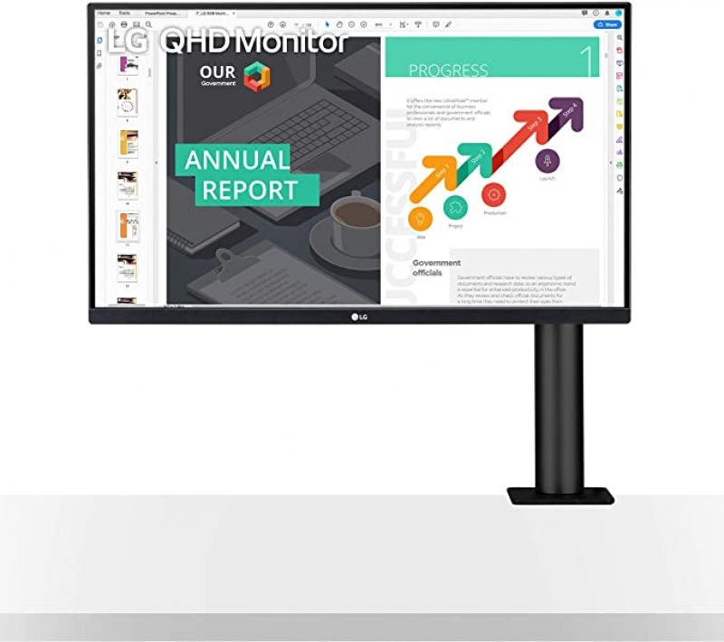 ihocon: LG 27QN880-B 27 QHD (2560x1440) Ergo IPS Monitor with HDR 10 Compatibility and USB Type-C Connectivity 電腦顯示器