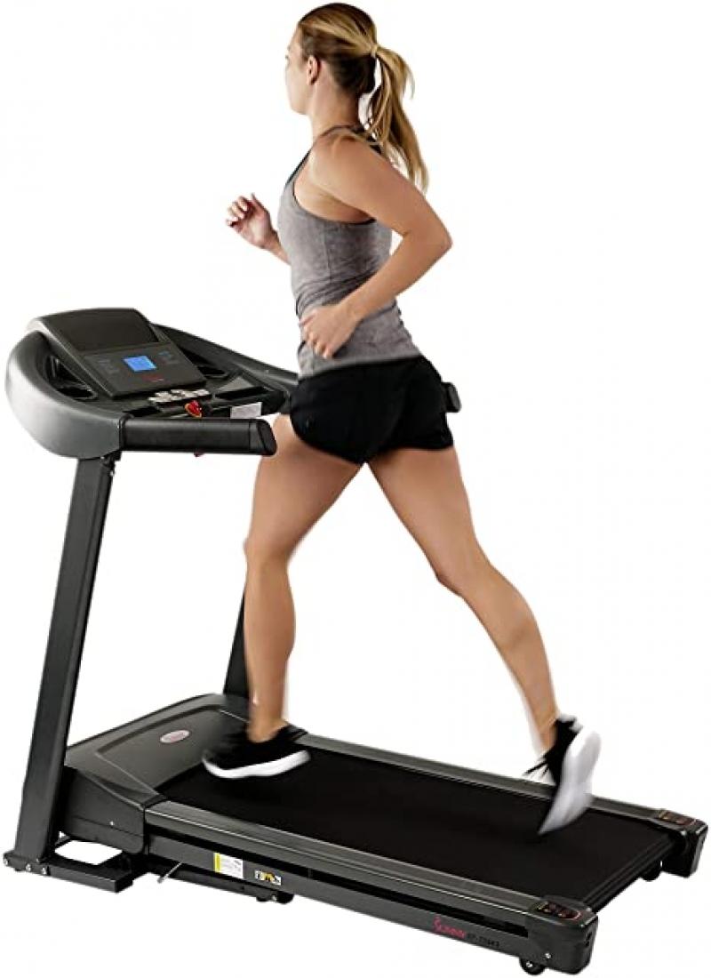 ihocon: Sunny Health & Fitness T7643 Heavy Duty Walking Treadmill with 350 LB Max Weight 跑步機
