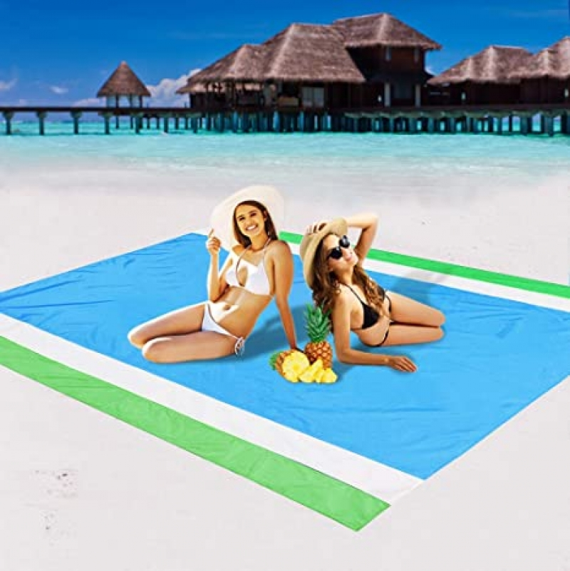 ihocon: AISPARKY Sand Proof Waterproof Quick Drying Compact Beach Mat 沙灘防沙防水地墊