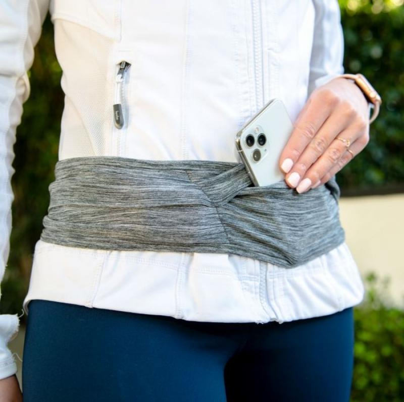 ihocon: Nathan Hipster Running Belt Waist Pack - Bounce Free, 4 Pockets  跑步腰帶/腰包 (4個口袋)