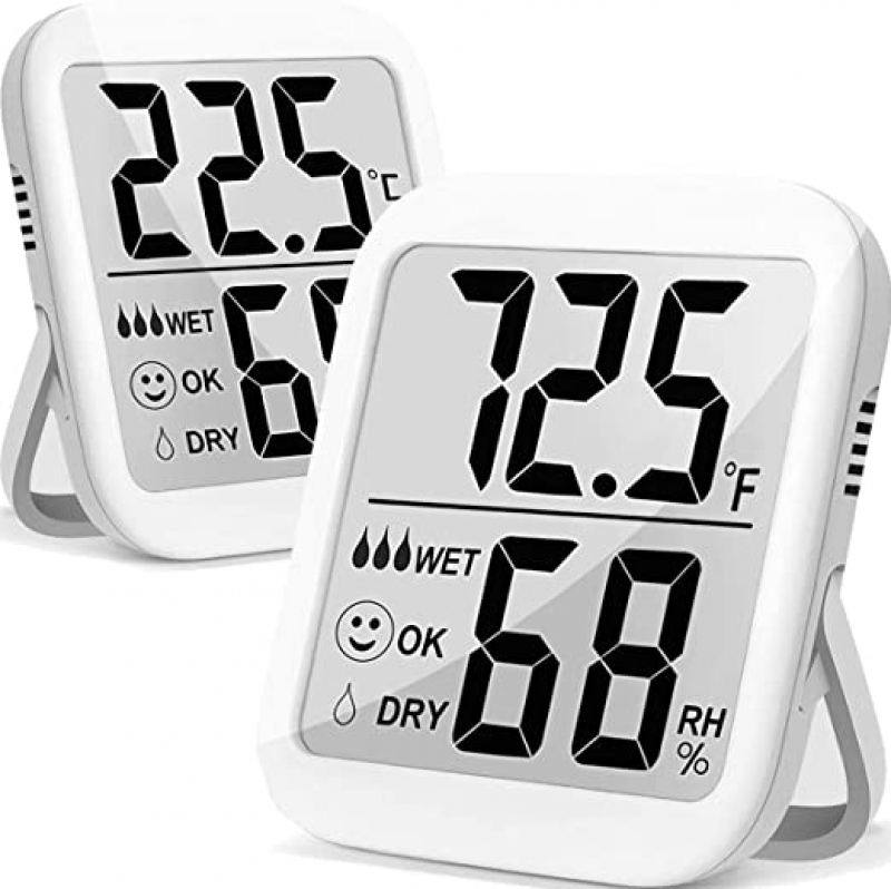 ihocon: ANTONKI 2 Pack Max Indoor Thermometer Hygrometer, Temperature and Humidity Monitor with Dual Sensors 室內溫度, 濕度計