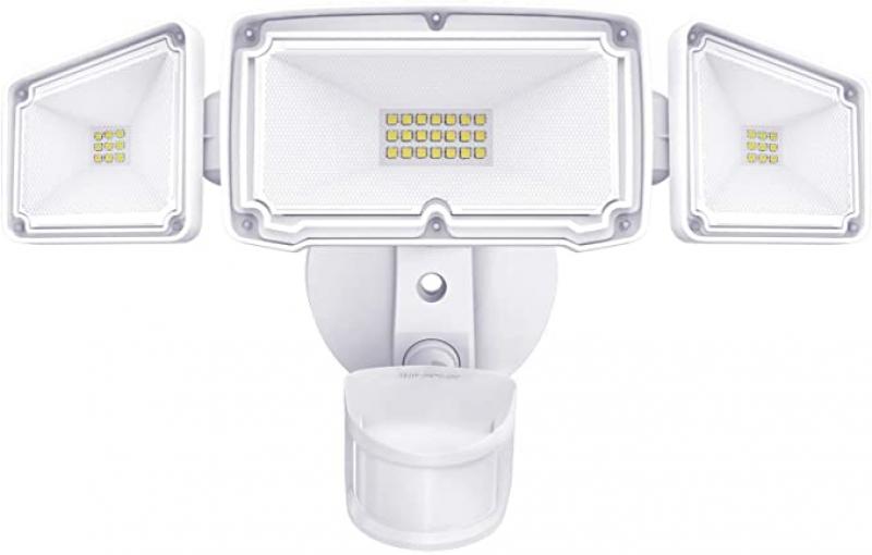 ihocon: Amico 3 Head LED Security Lights with Motion Sensor, Adjustable 40W, 4000LM, 5000K, IP65 Waterproof 動作感應LED 室外燈