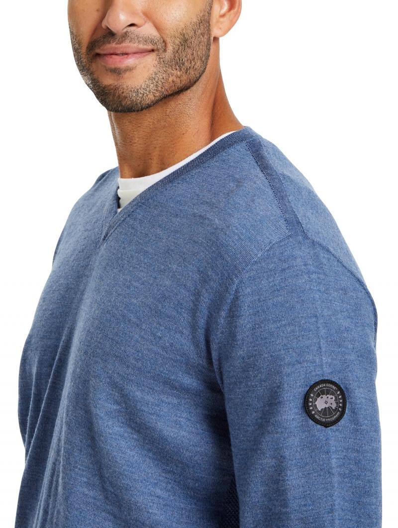 ihocon: CANADA GOOSE Livorno V-Neck Sweater, 100% Merino wool 男士毛衣