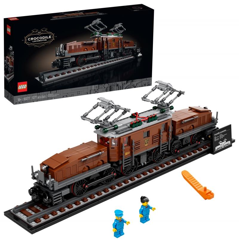 ihocon: 樂高積木LEGO Crocodile Locomotive 10277 Building Toy (1,271 Pieces) 鱷魚火車頭