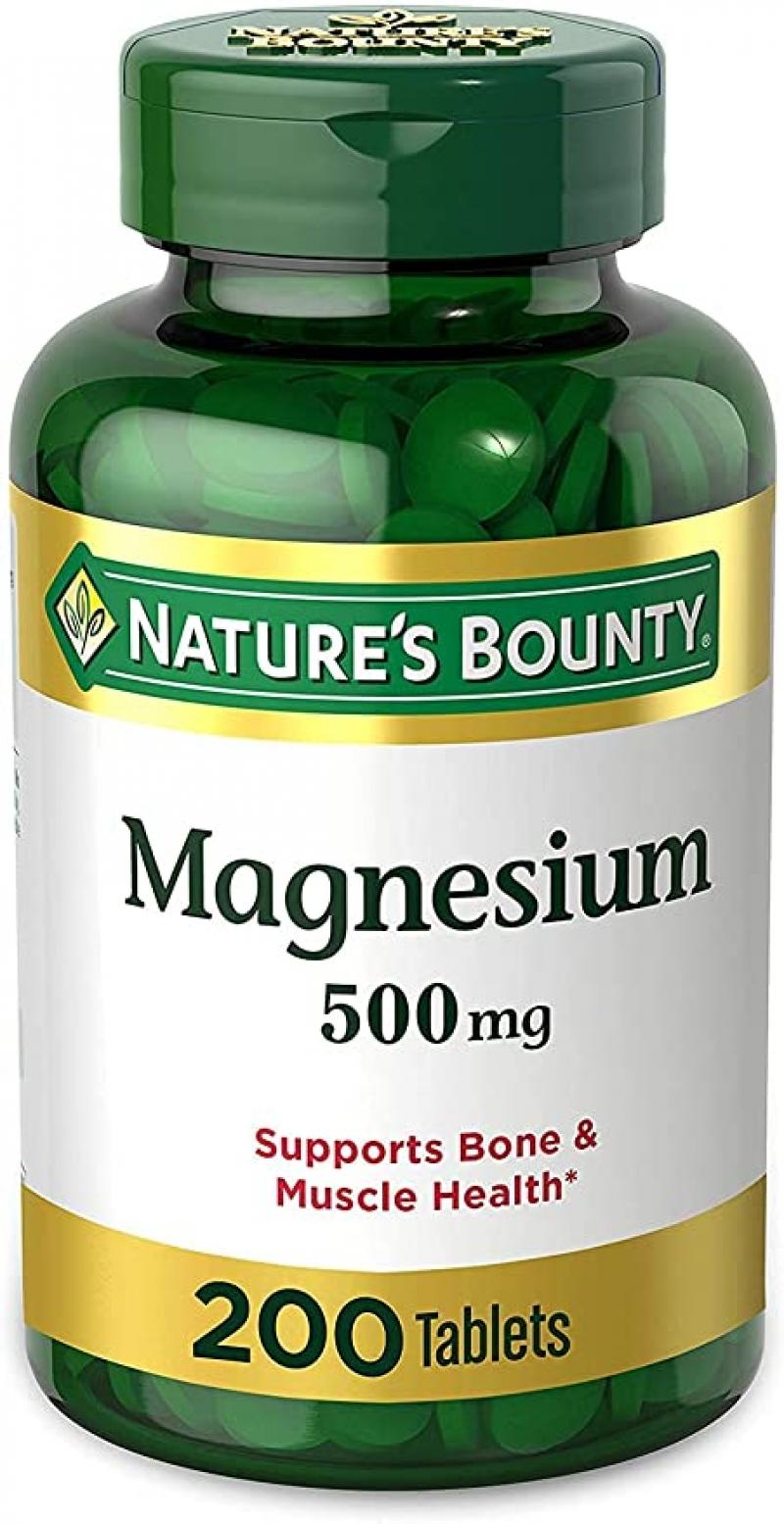ihocon: Nature's Bounty Magnesium 500mg, 200粒