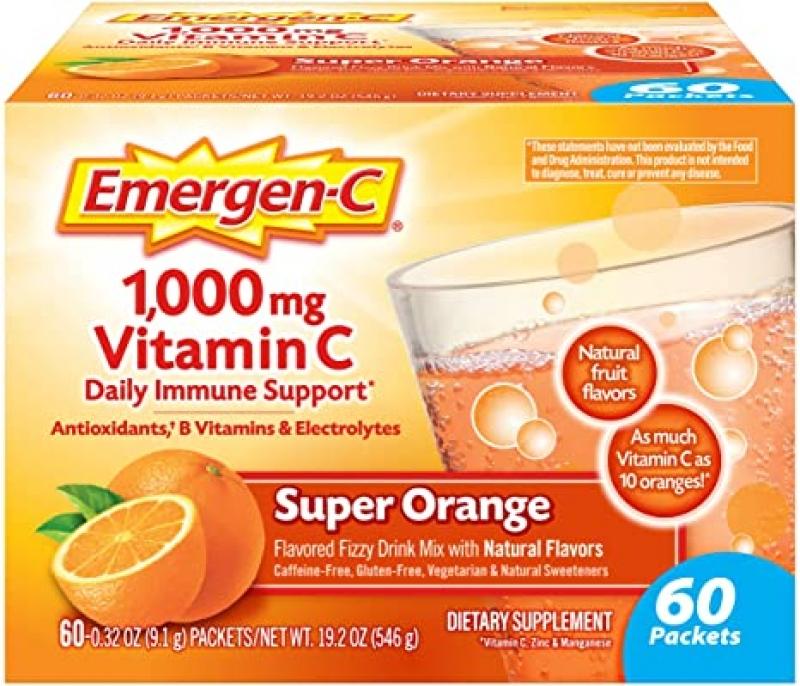 ihocon: Emergen-C 1000mg Vitamin C Powder, 60 Count維他命C沖泡粉