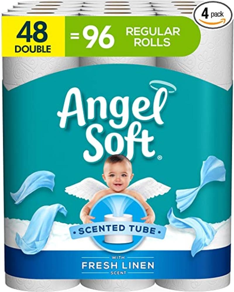 [48捲等於96捲的份量] Angel Soft廁所衛生紙 48捲Double Rolls $18.39(原價$22.99)