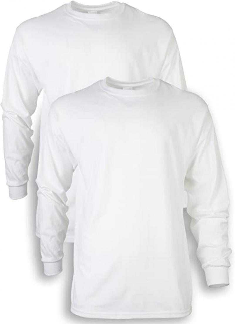 ihocon: Gildan Men's Ultra Cotton Long Sleeve T-Shirt 男士長袖棉衫2件