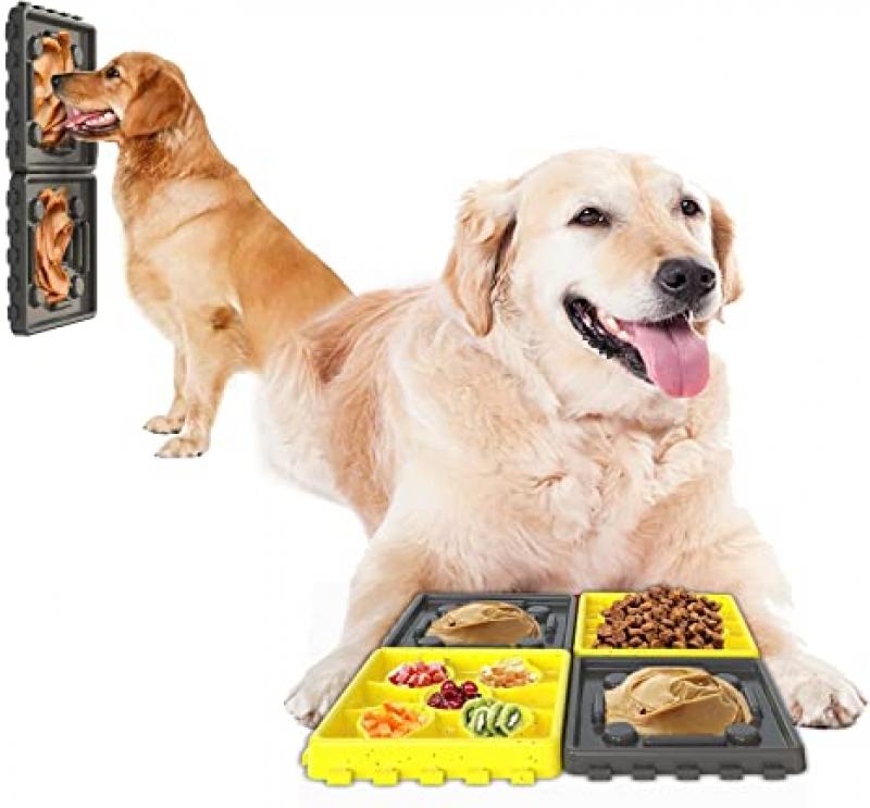 ihocon: Pet Team 4 in 1 Combination 100% Safe Feeding Tray  組合式狗狗減慢進食餵食碗 (可吸在地板和牆壁)