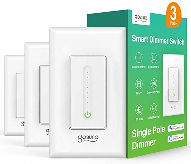 ihocon: TanTan Gosund Wi-Fi Smart Dimmer Switch 智能電燈開關(光線微調)3個