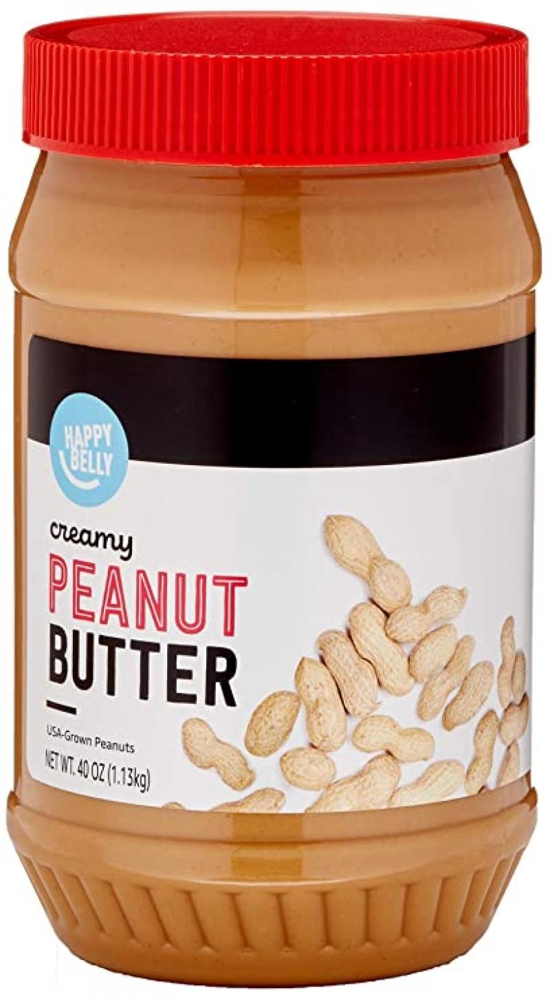 ihocon: [Amazon自家品牌] Happy Belly Creamy Peanut Butter, 40 Ounce  花生醬