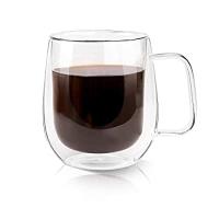ihocon: Growom Glass Coffee Mug Double Walled Espresso Cup雙層玻璃杯 12oz
