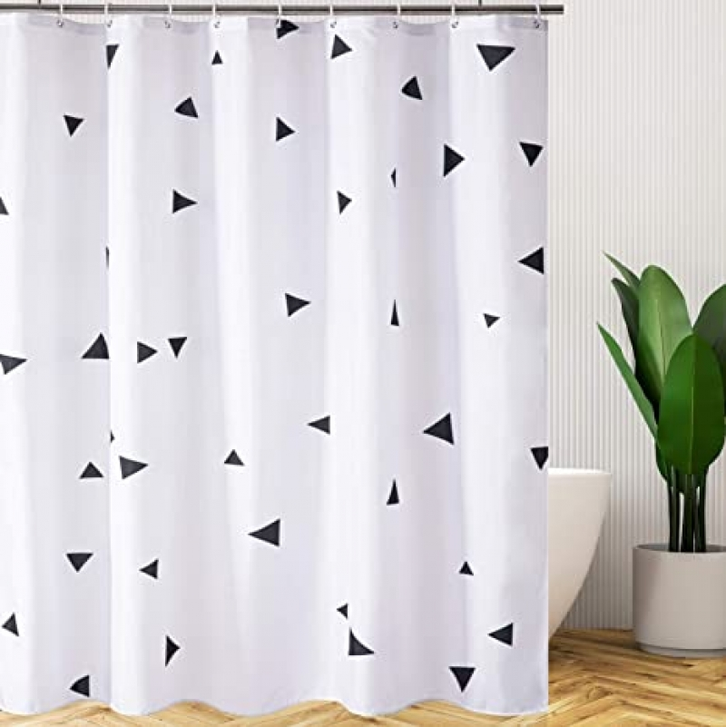ihocon: Caudblor Polyester Fabric Shower Curtain Set, 72 x 72吋 浴簾