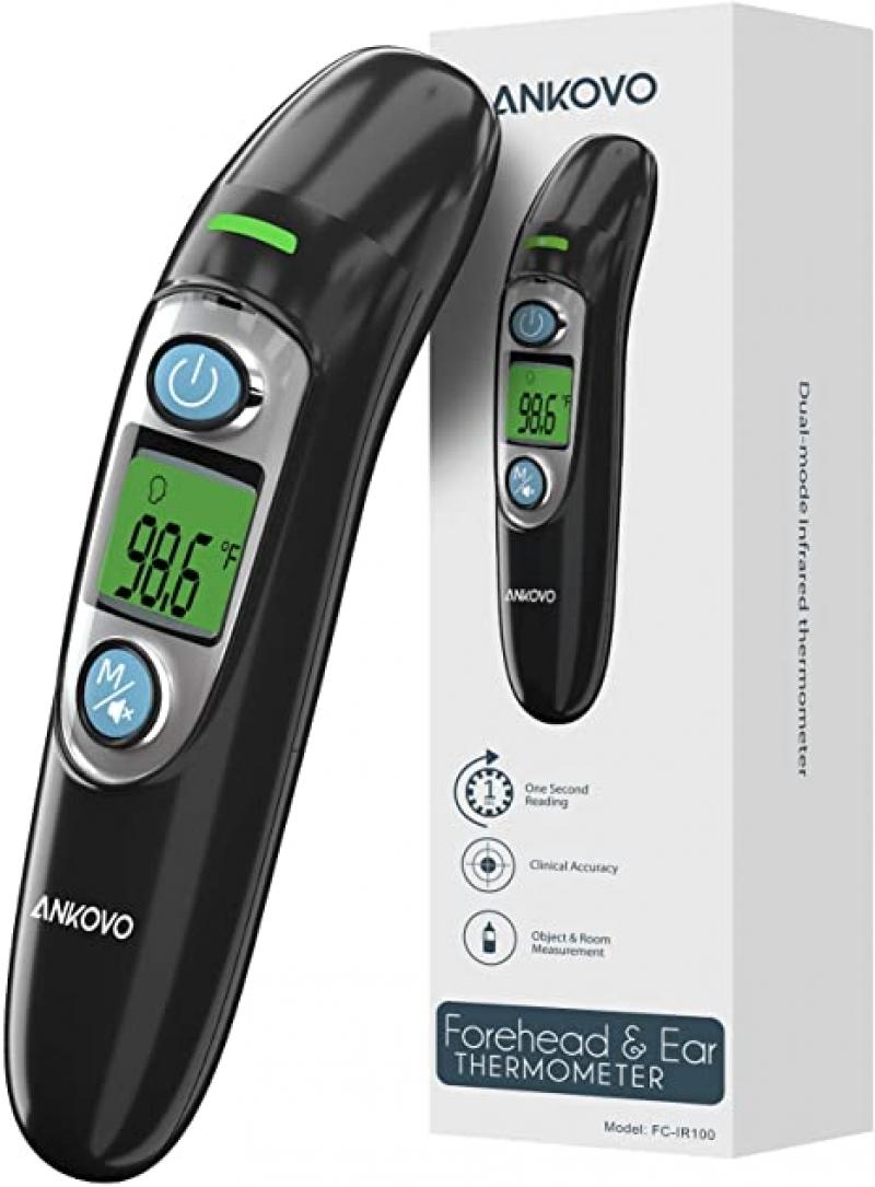 ihocon: ANKOVO Non-Contact Thermometer 紅外額頭/耳朵溫度計