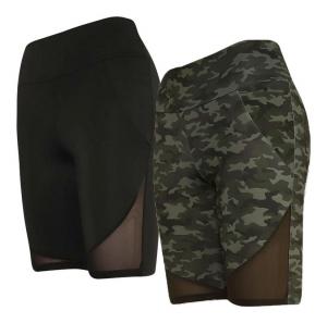 ihocon: YMI Women's 2 Pack 8-inch Inseam Biker Shorts 女士自行車短褲2條-3色可選
