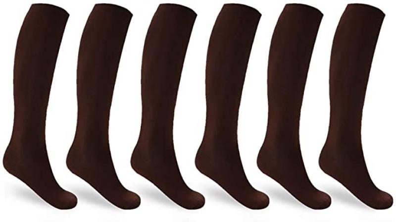 ihocon: [男, 女均適用] Unisex Compression Socks (Coffee-6 Packs, Small/Medium)壓力襪 6雙