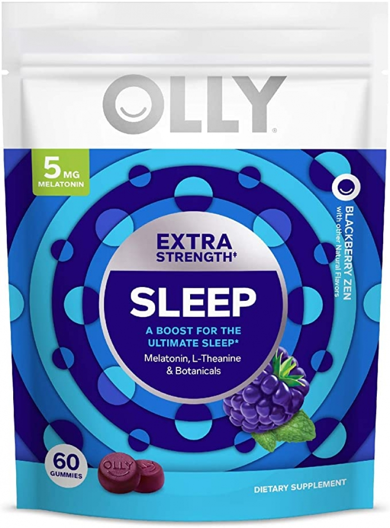 ihocon: [幫助睡眠] OLLY Extra Strength Sleep Melatonin Gummy, 30 Day Supply (60 Gummies)褪黑激素軟糖