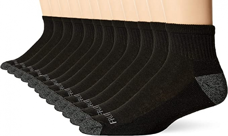 ihocon: Fruit of the Loom mens Dual Defense Cushioned Socks - 12 Pair Pack     男襪 12雙